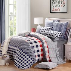Free Shipping!Mercury Home Textile 100% Cotton Sanding Bedding Set With 4pcs Duvet Cover Bed Sheet The Rhythm Of Youth
