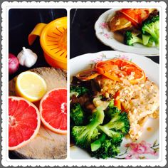 Baked citrus chicken, adapted from [Lemon Chicken with Shallots] recipe from the Tone It Up Nutrition Plan, Superfood Edition. Cheerful and refreshing tasting bake <3