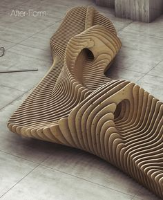 Parametric bench by Oleg Soroko, via Behance