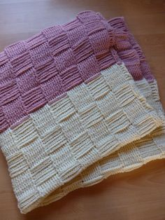 crochet afghan crochet blanket pink and cream by UniquelySam