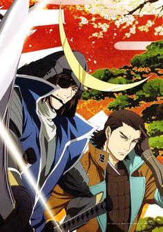 Katakura Kojuro, Date Masamune, Sengoku Basara I Love Anime, Me Me Me Anime, Anime Guys, Manga Anime, Sengoku Basara, Date Masamune, Ao No Exorcist, Samurai Warrior, Manga Games