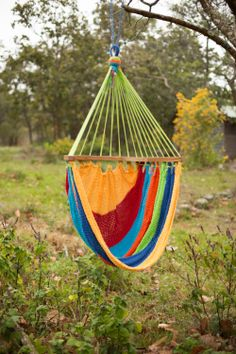 Rainbow HandWoven Cotton Hammock Chair by CailaguaHammocks on Etsy, $72.00