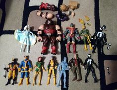 Marvel Legends 6in 12 Figure Lot w/accessories  BaF Pieces