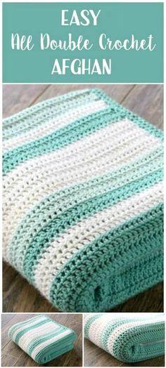 Free Crochet All Double Afghan Pattern - Crochet Afghan Patterns - 41 Free Patterns for Beginners - DIY & Crafts