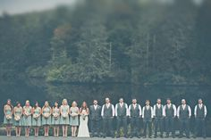 big wedding party. North Carolina Lovebird Wedding