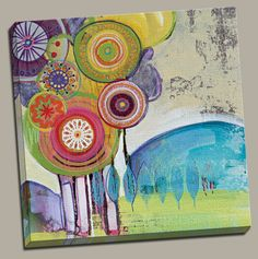Sweet Trees I Painting Print on Wrapped Canvas