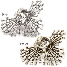 @Overstock - Spiny and delicate, this magnificent pin suggests ocean life forms set with glittering baguette and round-cut crystals. Available in your choice of bronze or burnished silver, the pin offers traditional catch closure.http://www.overstock.com/Jewelry-Watches/Sweet-Romance-Crystal-Sea-Urchin-Pin/4747102/product.html?CID=214117 $39.09
