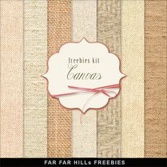 Far Far Hill - Free database of digital illustrations and papers: New Freebies Kit of Backgrounds - Canvas