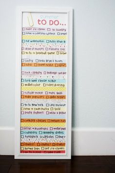 summer to-do's 12 x 36 - hang by small kitchen wall