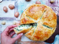 Špenátový koláč s ricottou a vejci – Recepty z postele Spanakopita, Ricotta, Camembert Cheese, Ale, Pizza, Ethnic Recipes, Ale Beer, Ales, Beer