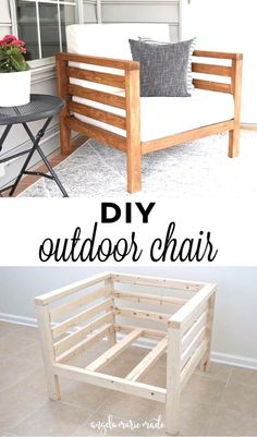 Diy Furniture Couch, Diy Outdoor Furniture, Diy Chair, Building Furniture, Diy Exterior Furniture, How To Make Furniture, Diy Couch, Furniture Storage, Furniture Making