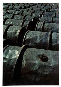 Iron barrels, pl. 63 from 122 Colour Photographs by Keld Helmer-Petersen