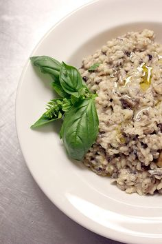 Wild Mushroom Risotto. Easy! Don't be scared of risotto, this is a no-fail recipe straight from a chef!