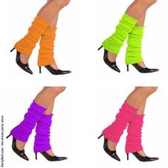 Neon legwarmers... for our 80's costume.   We are gonna rock!