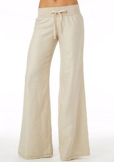 Knit Waist Linen Pant - pinning beige to see the style better, but I would get these in black most likely.