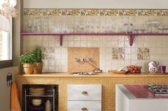 Joyful breakfasts with Petite Maison Collection by Marca Corona #kitchen #tiles #wall #interiordesign