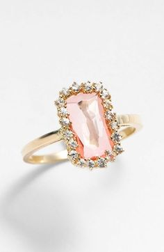 KALAN by Suzanne Kalan Barrel Stone Ring available at #Nordstrom. Gorgeous!