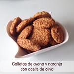 Galletas de avena y naranja con aceita de oliva