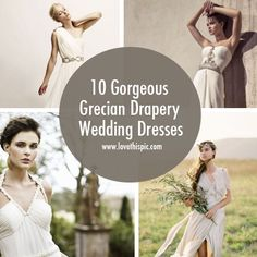 Beautiful grecian styled dresses for any wedding. wedding beautiful girl dresses gorgeous wedding dresses