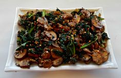 """Kale is a nutritional powerhouseall on it's own. When it'scooked with""""baby bellas""""known as crimini mushrooms smothered in extra virgin olive oilwithminced garlic , onions and red pepper flakes it makes a phenomenal healthy yet, delicious dish!   This recipe was createdby combining spicewith healthy vegetables. Ilovethe bold, spicy flavorand all the health benefits of…"""