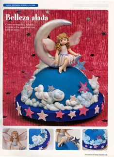 como hacer pasteles infantiles paso a paso   Revistas de manualidades gratis Cake Decorating For Kids, Cake Decorating Tutorials, Fondant Toppers, Moon Cake, Girl Cakes, Cupcake Cookies, Cupcakes, Fancy Cakes, Cake Tutorial