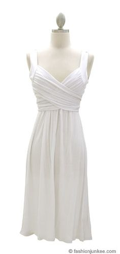 FLASH SALE! :As Seen In US WEEKLY: Crossover Fauxe Wrap Vintage Inspired Jersey Dress-White