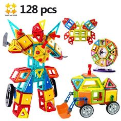 Now Available on our store: Medium Sizes Magn... Check it out there! http://imatoys-store.myshopify.com/products/medium-sizes-magnetic-building-blocks-designer-kits-128pcs-with-ferris-wheel-car-models-educational-diy-bricks-toys-for-children?utm_campaign=social_autopilot&utm_source=pin&utm_medium=pin