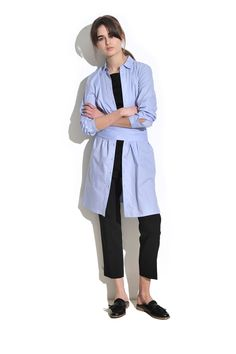 Cool and modern, the shirt dress is an easy piece that can be styled in a multitude of ways. For a relaxed look, layer it over jeans or a minimal T-shirt and cigarette pants. Alternatively, slip it over a bikini and head to the beach, just adding heels for evening drinks.