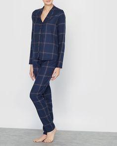 Love Joséphine Rutig pyjamas i Rutig blå - La Redoute