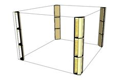 Floor-to-ceiling bass traps arranged to treat wall-to-wall corners in a listening room or control room. Music Studio Decor, Home Studio Setup, Home Studio Music, Acoustic Wall, Acoustic Panels, Studio Floor Plans, Bass Trap, Sound Room, Home Cinema Room