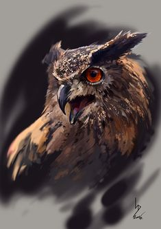 Eagle-Owl, Dmitriy Iorgachov on ArtStation at https://www.artstation.com/artwork/1bg4q
