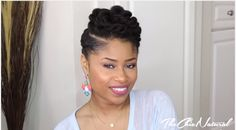 TWISTED UPDO Natural Hairstyle