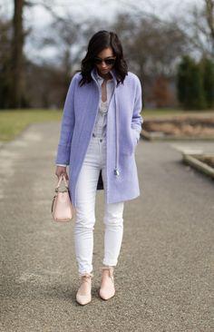 jcrew purple cocoon coat