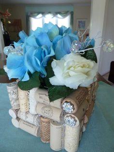 Beaded Cork Flower Basket by TheBeadedCork on Etsy, $25.00