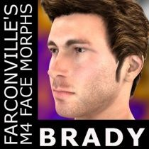 Brady M4 Morph $2.99  Abe is a meticulously crafted facial morph for M4.  Please note the following:  M4 base and M4 Legacy INJ Slots must be ticked or checked when using PowerLoader.  Import for Daz Studio 4.5 first THEN apply INJ file to M4.  No textures included but will work with your favorite texture.