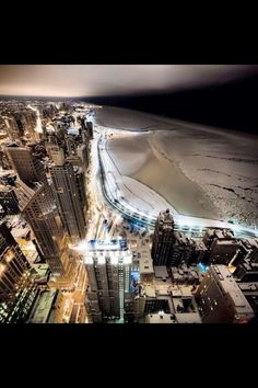 Chicago winter... cool photo though.
