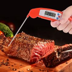 Kitchen Digital Thermometer Probe Folding Fashion Electronic BBQ Barbecue Meat Baking Thermometer -PH