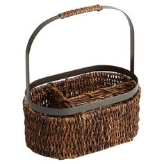 Showcasing a classic woven design and natural finish, this 3-compartment flatware caddy adds rustic appeal to your picnic table or patio buffet....