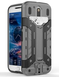Moto G4 / G4 Plus Case,ARMORCOO(TM) Heavy Duty Shock Absorbing Hybrid Rugged with One Built-in Card Slot Protective Kickstand Hard Case Cover for Motorola Moto G4 / G4 Plus (Gray/Black) * This is an Amazon Affiliate link. Click image for more details.
