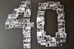 40 In Pictures great idea for any birthday!