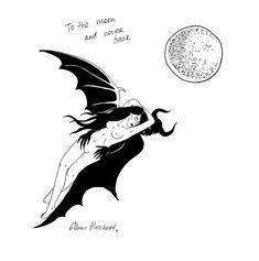 www.instagram.com/glambeckett/  #sketch #sketchbook #drawing #ink #blackink #lineart #lowbrow #tattooart #lowbrowart #darkartists #darkart #demon #satan #devil #moon #lovers #death #love #valentinesday #punkart #witchy #occult #hell #graphic #monstersholdingbitches #glambeckett