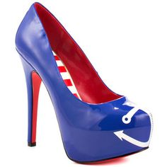 Anchors Away Heels Blue, $129, now featured on Fab.