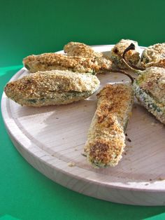 "Cashew ""cheese"" stuffed jalapeno poppers...Hors d'oeuvre ideas for holiday gatherings... #Vegan"