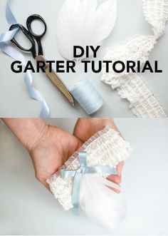 Make your own lace garter with this DIY bridal tutorial. But don't forget to add a touch something blue!