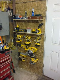 Might Be Adaptable For Storing Bench Top Tools. More Flexible Than Shelves.
