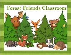 Forest Friends Classroom Pinterest board - everything you need to create a forest themed classroom.
