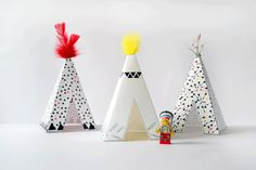 Free printable Paper #tipi - #teepee - #wigwam - Send an e-