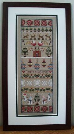 Merry Christmas Cross Stitch Sampler PDF Chart. £5.00, via Etsy.