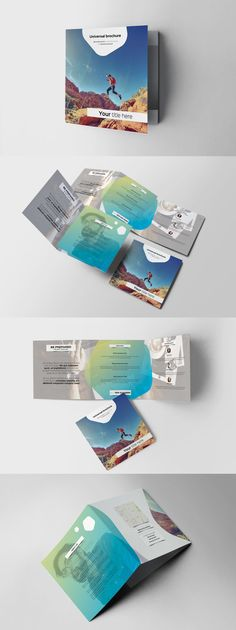 Color Square Trifold Brochure Template Adobe InDesign INDD