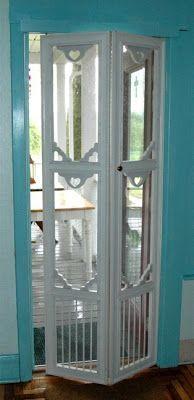 Bi-fold screen door Allie Cosma...for your back door.